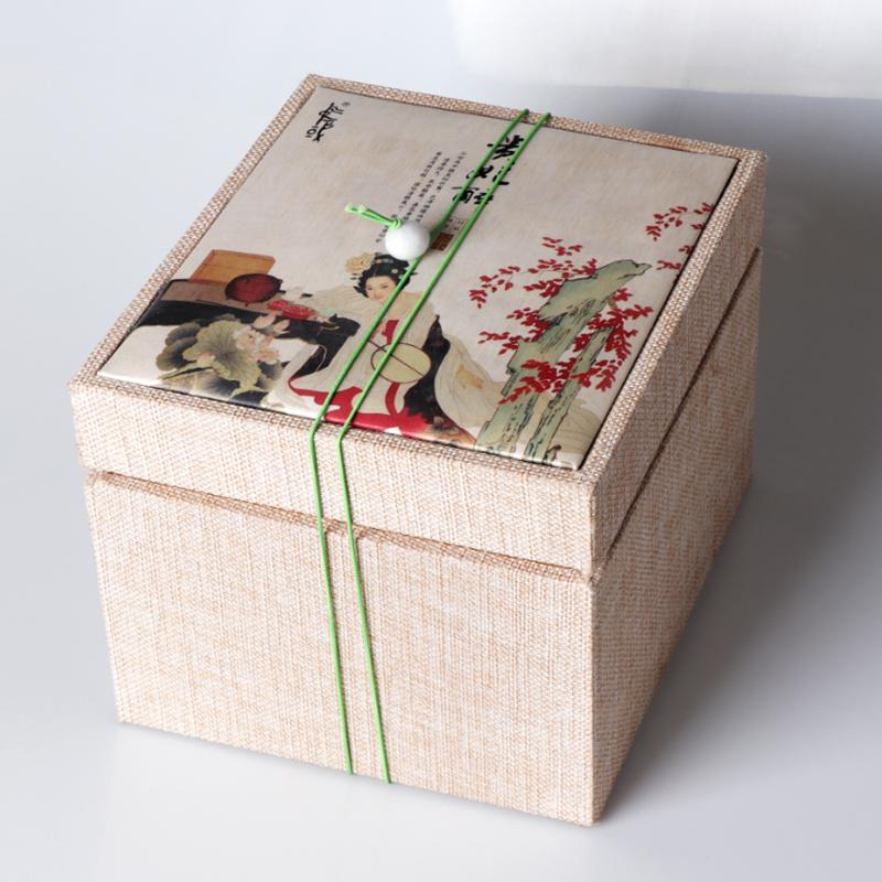 茶叶锦布盒